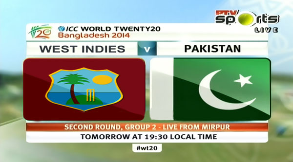 Pakistan vs West Indies T20 World Cup 2014 Match