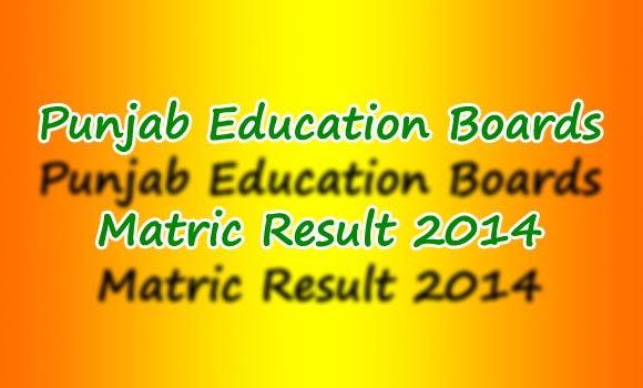 All Punjab Boards Matric 10th Class Result will be announced on 25 July 2014