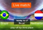 Brazil vs Netherlands Third Place Match Live