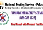 Rescue 1122 NTS Test Final Result 2014