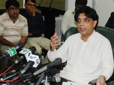 Nisar discusses Karachi law and order with DG Rangers