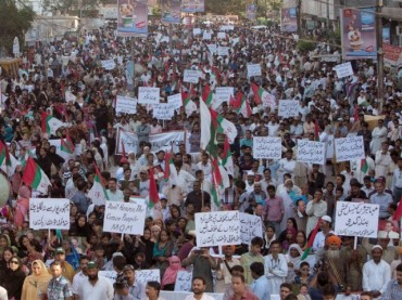 MQM protests across Karachi against arrest of workers