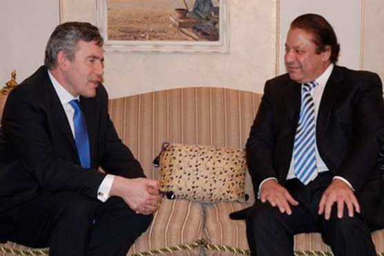 Gordon Brown meets PM Nawaz Sharif