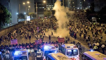 Hong Kong protesters defiant after tear gas chaos