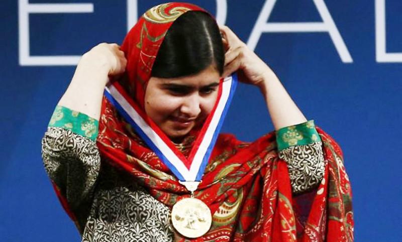 Malala receives US Liberty Medal