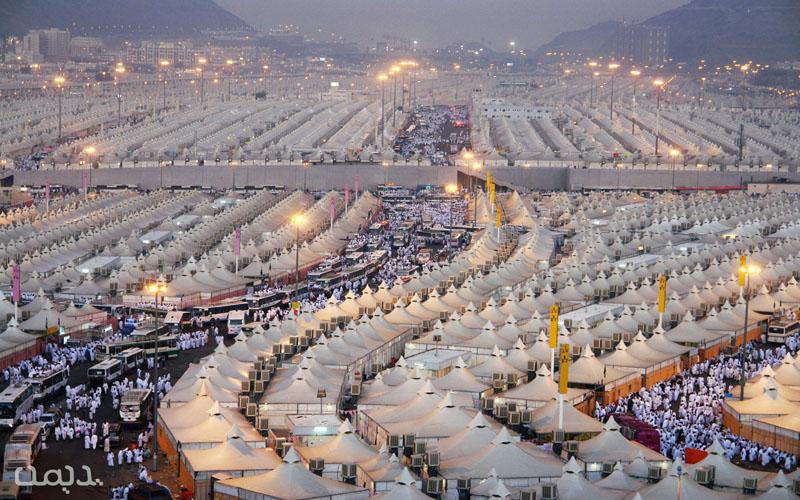Hajj Pilgrims at Mina Mecca