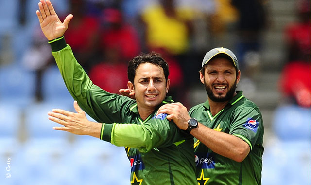Shahid Afridi and Saeed Ajmal