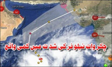 Cyclone Nilofar decreases in intensity