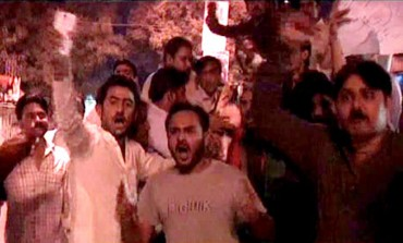 PTI office vandalized in Hyderabad after London rally episode