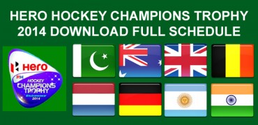 Hockey Champions Trophy 2014 Schedule, Match Timetable