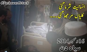 Terrorist attack on school in Peshawar, 144 Shaheed including Children