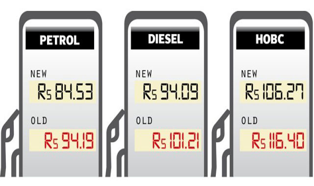Petrol Prices reduced from 1st December 2014, Notification Issued