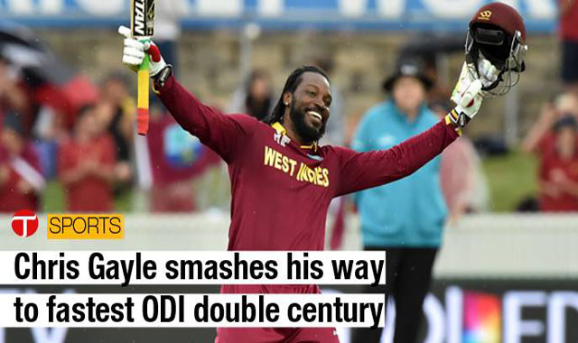 Chris Gayle smashes fastest ODI Double Century