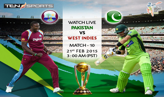 Pakistan vs West Indies World Cup 2015 Match Live Streaming, Score