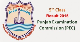 Punjab Education Commission (PEC) 5th Class Result 2015 Announced