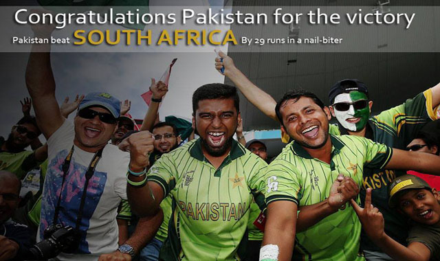 Pakistan beat South Africa by 29 Runs