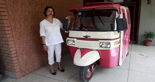 Female-only Pink Rickshaw