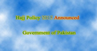 Hajj Policy 2015