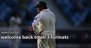 Saeed Ajmal is Back now