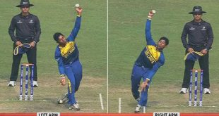 Sri Lanka find 'double-hand' bowler