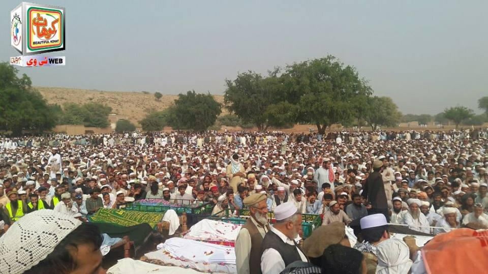 Kohat Bus Fall into Ravine, Namaz Janaza Offered (3)