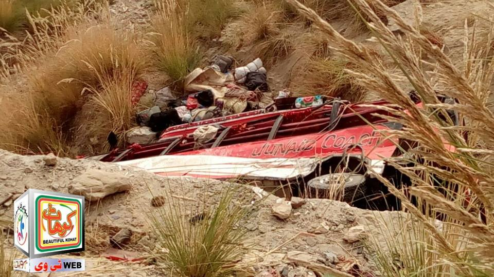 Kohat Bus Fall into Ravine