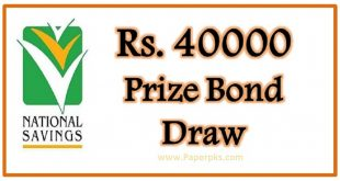 National Savings Prize Bond 40000