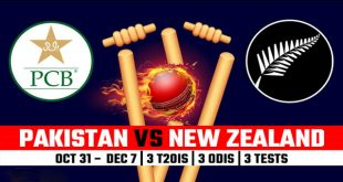 Pakistan vs New Zealand Cricket Series 2018 UAE