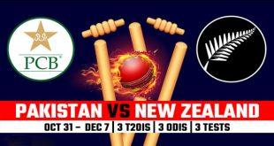 Pakistan vs New Zealand Cricket Series 2018 Schedule, Squads, PAK v NZ in UAE Live Scores