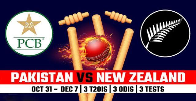 Pakistan vs New Zealand Cricket Series 2018 UAE