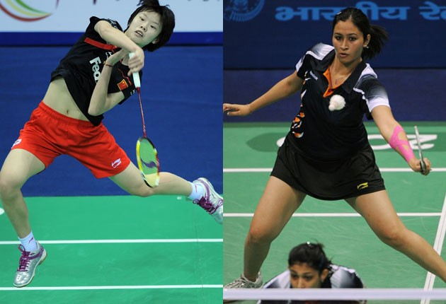 glamour in badminton wear short skirt earn more